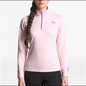 North Face Women's 1/4 Zip Pink Fleece XS NWOT!